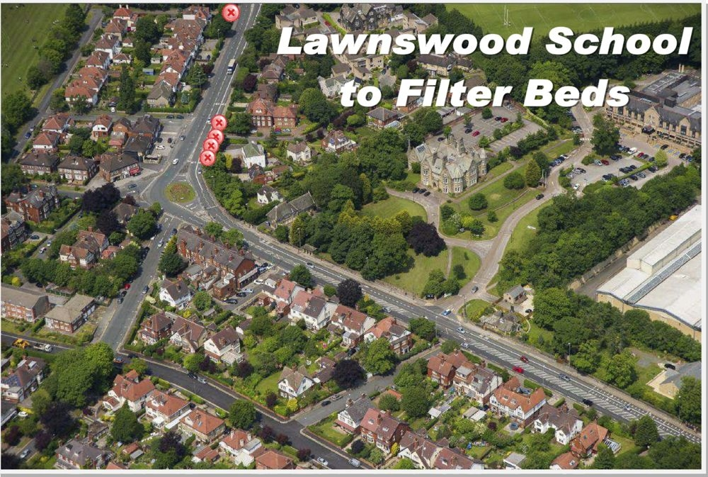 Lawnswood School to filter-beds