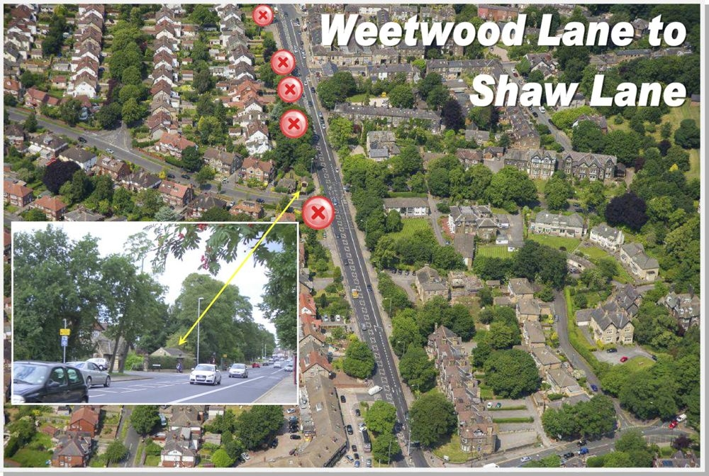Weetwood Lane to Shaw Lane