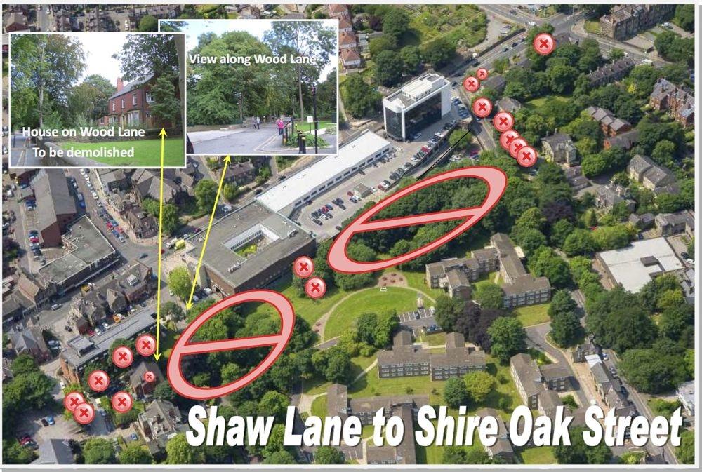 Shaw Lane to Shire Oak Street