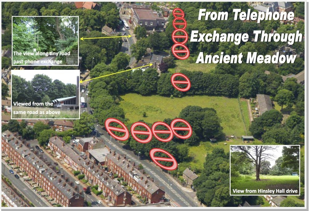 Telephone exchange via ancient meadow
