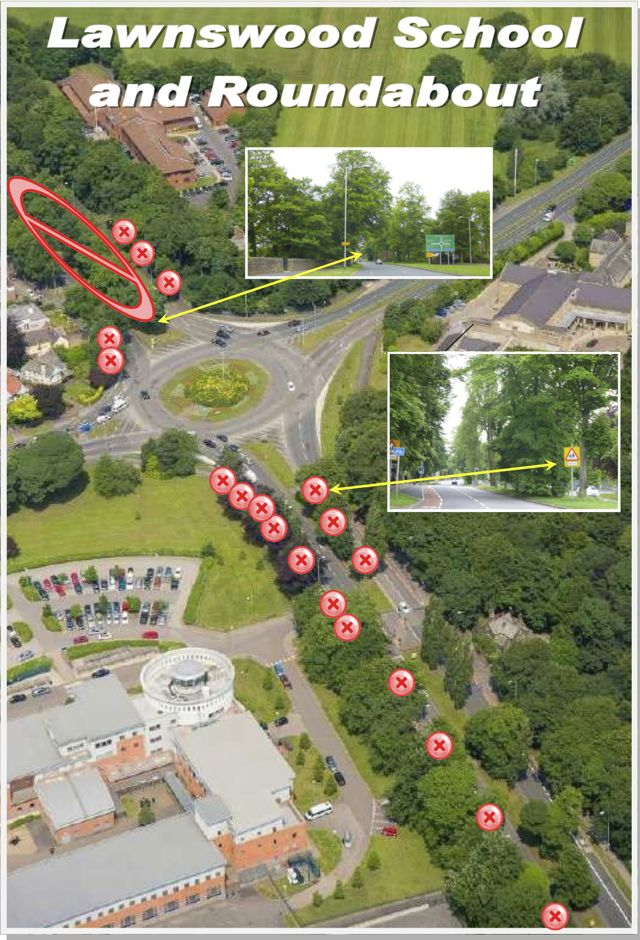 Lawnswood Roundabout to School
