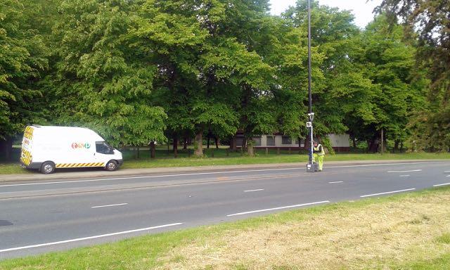 Traffic Survey Partners instal traffic surveying equipment on Woodhouse Lane